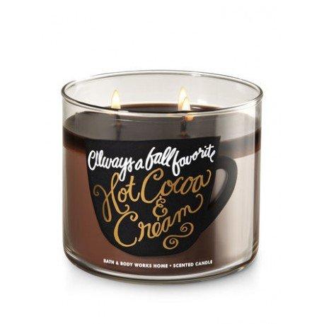 Bath & Body Works Hot Cocoa & Creme immer ein Fall Favorite Duftkerze 3Docht 14,5Unze,