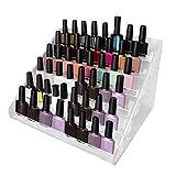 Organizador de esmalte uñas 6 niveles con tornillos de plástico - Soporte de esmalte uñas acrílico (30 x 23,5 x 18,5cm) - Soporte almacenamiento capacidad de 48 botellas tamaño estándar