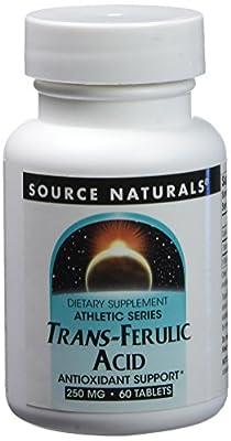 Source Naturals Trans-Ferulic Acid, 60 Tabs, 250 Mg from Source Naturals
