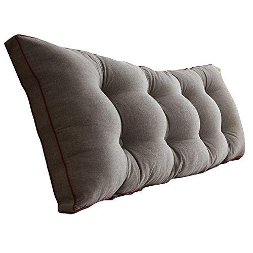 HAIPENG Rückenlehne Bett Kissen Groß Lendenwirbelsäule Sofa Kopfstütze Weich Abdeckung Taillenschutz Nachttisch Gepolstert Pads Entfernbar Waschbar, 8 Farben, Multi Größen