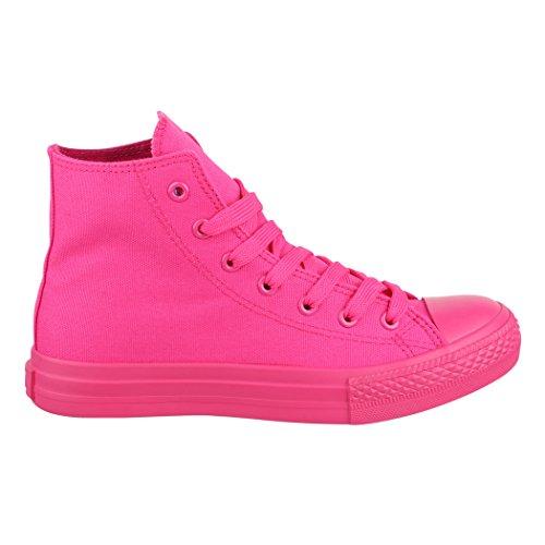Sneaker Elara Unisex | Damen Herren | Alto In Alto | Colore Rosa Chunkyrayan