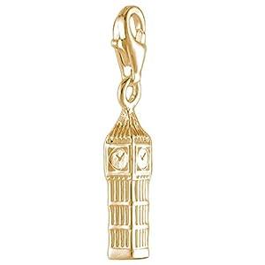 Melina Damen-Charm Bettelarmband Anhänger Big Ben London vergoldet Gelbgold 925 Silber – 1801623