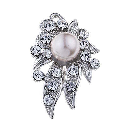 MingXinJia Mode Broschen Pins Frauen Meerwasser Aquatic Set Diamant Perle Brosche Schmuck mit Zubehör für Frauen und Mädchen -
