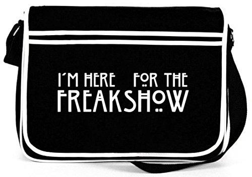 Shirtstreet24, AHS - Freak Show, Retro Messenger Bag Kuriertasche Umhängetasche Schwarz