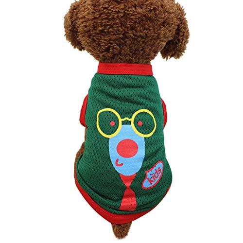 KoojawindDurable Dogs Harness Weste Sommer Hund T-Shirt Haustier Kleidung Bekleidung Atmungsaktive Weste Kostüme Polyester Coole Kleidung für das tägliche Tragen