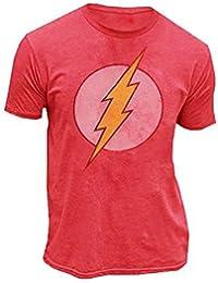 JF True Vintage The Flash Original Distressed Logo rot Herren T-shirt