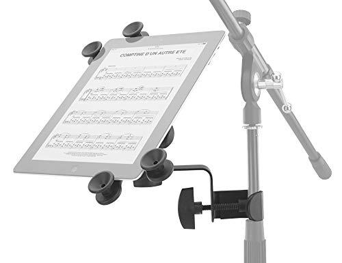 Pronomic UTH-20 Universal Tablet-PC Halter (passend für alle gängigen Größen, mit Stativklemme, stufenlos verstellbar) Schwarz -