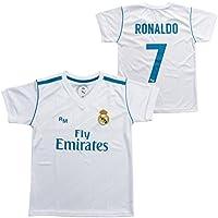 Camiseta 1ª Equipación Replica Oficial REAL MADRID 2017-2018 Dorsal RONALDO - Tallaje ADULTO (
