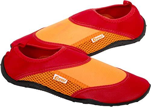 Cressi Coral Shoes Zapatilla para Deportes Acuáticos, Adultos Unisex, Rojo/Naranja, 37