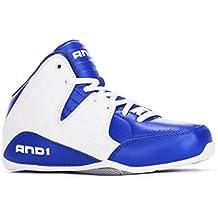 zapatilla baloncesto, And1, talla 35, blanco azul