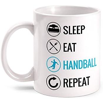 Ihr denkt ich wäre nett bis ihr mich beim Kaffeebecher Handball Sport Fan