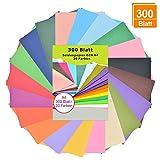 Carta velina 300 fogli A4 - Multicolore, 20 colori, 16 G/mq trasparente colorato, carta colorata a4, per creare pompon, fiori di carta, decorazione da tavolo, che viene intasato in sacchetti regalo.