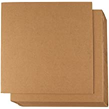 Hojas de cartón corrugado – 24 unidades de hojas planas de cartón, inserciones de cartón