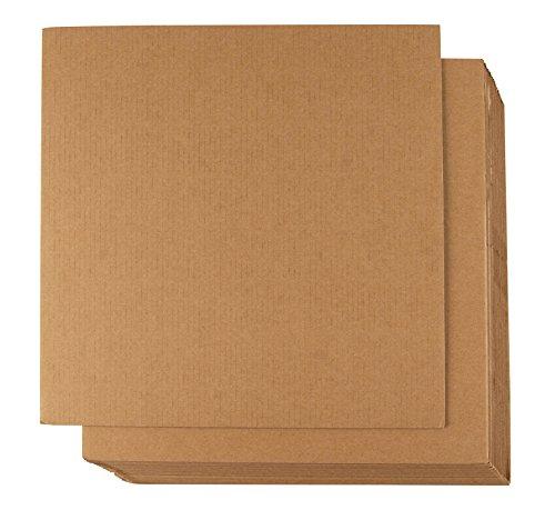 Wellpappe Blatt–24er Pack flach Karton Blatt, Karton fügt für Verpackung, Versandtaschen, Basteln, Kraft braun, 30,5x 30,5cm