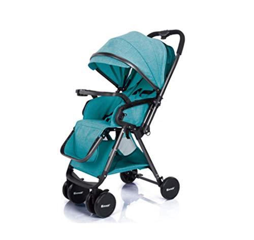 Kinderwagen - Zwei-Wege-Hoch-Landschaft kann sitzen und zurücklehnen ultraleichten tragbaren Klapp-Kinderwagen, Ein-Hand-und One-Second-Faltung,D