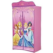 Disney - Armario infantil de tela, diseño de Princesas Disney, color rosa