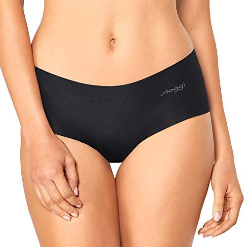 Sloggi Damen Short, Zero Cotton, 3 Stück in schwarz, Free Cut Technologie (3, L)
