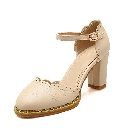 adee-filles-brod-round-toe-polyurthane-sandales-beige-orange-abricot-355