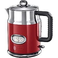 Russell Hobbs 21670-70 Retro Su Isıtıcı, 2400 W, 1,7lt, Paslanmaz Çelik, Kırmızı