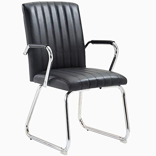 Chaise de Bureau Chaise de Bureau Chaise de Travail à Domicile Fauteuil en Cuir Chaise de conférence Chaise de conférence Arrière Chaise de Bureau Pieds en Acier, Super Roulement