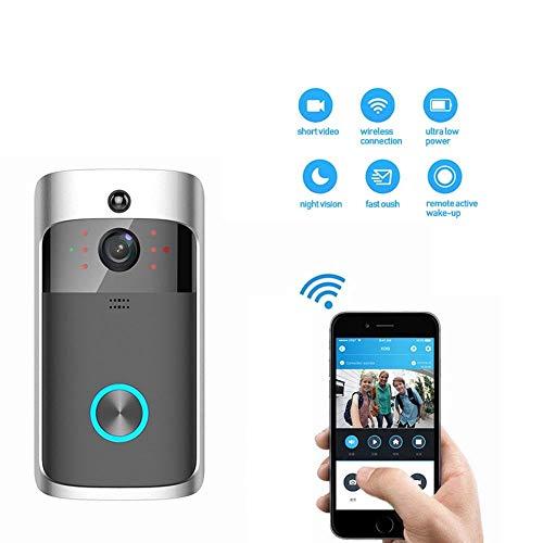 Lcxligang Kabellose Video-Türklingel 2 mit batteriebetriebener HD-kabelloser, intelligenter Türklingel / 720P HD-Kamera/Telefon-Weckkamera