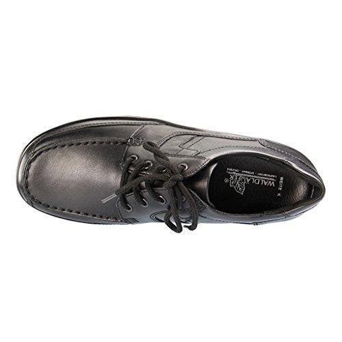 Waldläufer  633003 174001, Chaussures de ville à lacets pour homme Schwarz