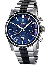 Festina Herren-Armbanduhr XL Chronograph Quarz Edelstahl beschichtet F16819/1