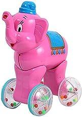 Vivir Elephant Push and Go Toys Boy and Girl (Pink, 2 Year)