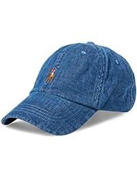 Ralph Lauren Men's Baseball Cap Blue Denim One Size
