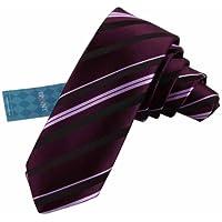 EAE1A07 vario dei colori di seta a righe Skinny Tie Idee regalo per Mens By (Ombra Stripe Tie)