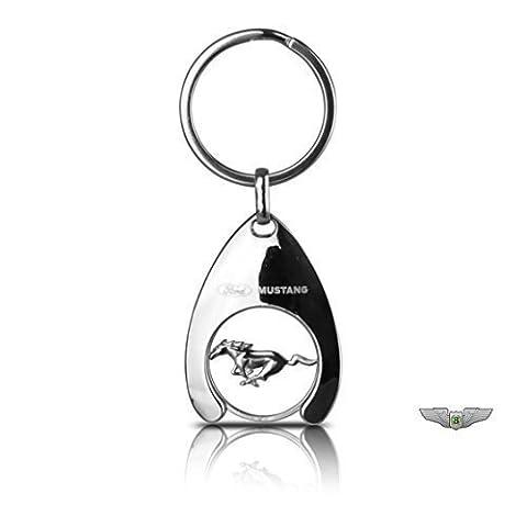 Ford Collection Lifestyle Neuf Original Ford Mustang Chariot Pièce De Monnaie Porte Clé Porte-clés