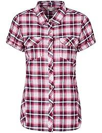 9b95d84a6a1 Mountain Warehouse Camisa de algodón Holiday para Mujer - Top de Manga  Corta para Mujer