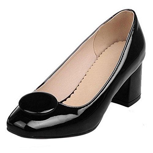 6aaab5b2f14cd1 TAOFFEN Damen Elegant Blockabsatz Schuhe Party Dress Pumps Schwarz ...