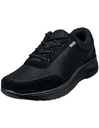 Wallin® para Hombre Flex cordones, Rocker Sole, reduce la presión, alivia pie, talón, rodilla dolor, color Blanco, talla 43,5