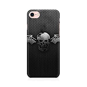 NXT GEN Black Skull Wings Premium Printed Mobile Back Case Cover For Apple iPhone 7