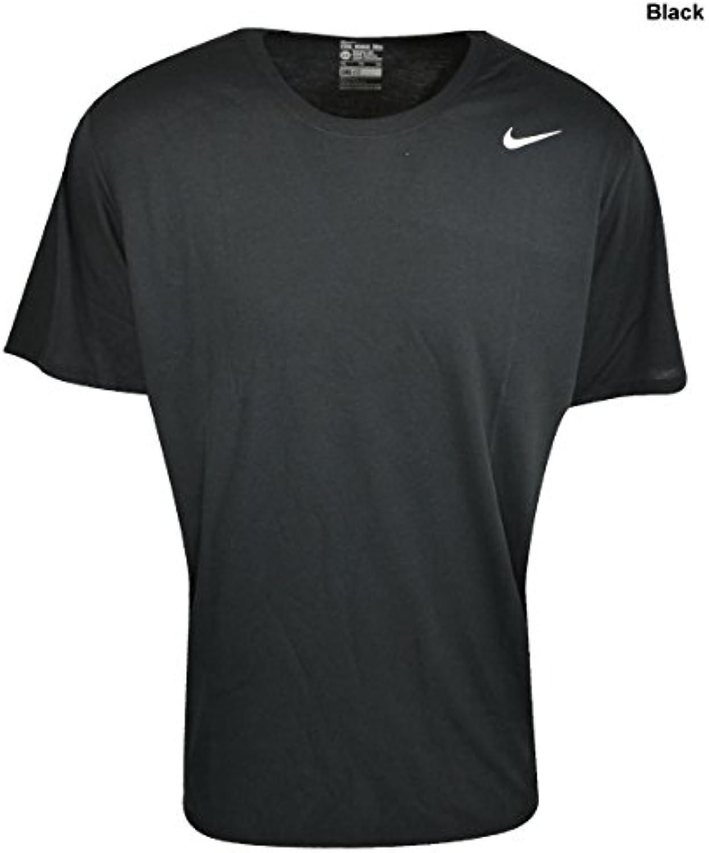 Camiseta de entrenamiento Nike Dri-FIT de manga corta para hombre, de talla negra / blanca, medio