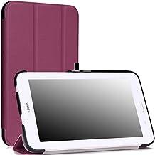 MoKo Samsung Galaxy Tab 3 Lite Funda - Ultra Slim Ligera Smart-shell Funda para Samsung Galaxy Tab 3 Lite T110 / T111 7.0 Inch Tablet, VIOLETA (NO va a caber el Tab 4 7.0 o el Tab 3 7.0)