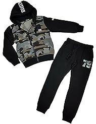 Warmer Tarnmuster Camouflage Jogginganzug für Kinder, JF53e