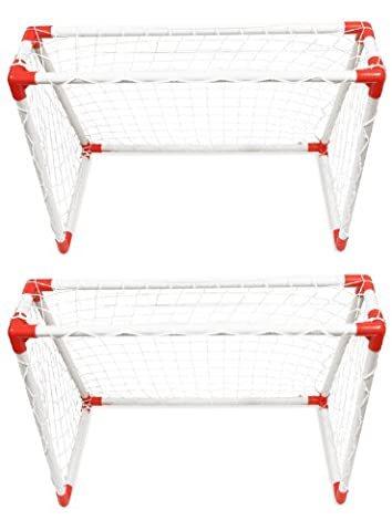 Woodside Childrens Mini Football Goal Post Twin Set Kids Practice Soccer Goals