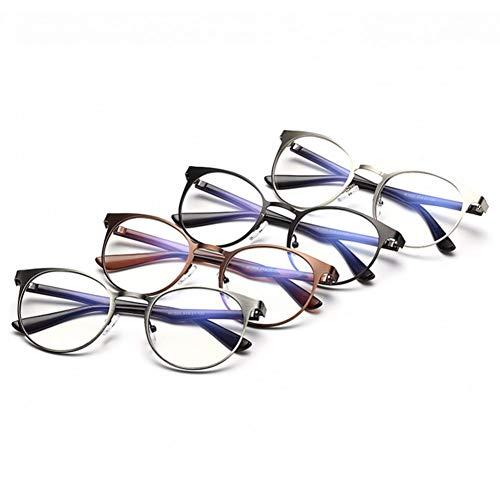 BFLHBBF Spiegeln Einfache frische Stil Brille leicht und stilvolle Brille Persönlichkeit der Brille |Klare Gläser