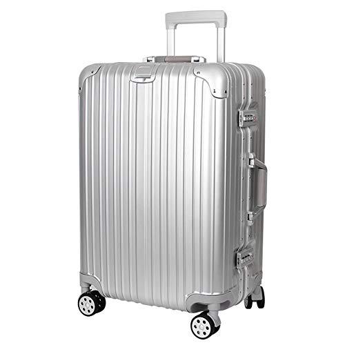 TYJH Trolley-Koffers, stilvolle Persönlichkeit 360 ° Mute Caster Koffer,Silver,35 * 23 * 51CM