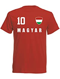 aprom - Ungarn Kinder T-Shirt Trikot ALL-10 Rot - WM 2018 Fußball