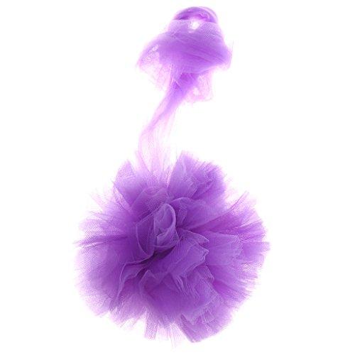 Hochzeit Party Tüll Tutu Ball Hängenden Deko PomPoms Blumen Kugel - Lila, 15cm