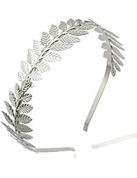 Q & Q Fashion Diosa romana de la hoja rama Dainty novia, corona cabeza vestido