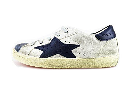 ISHIKAWA KIDS sneakers bambino grigio camoscio blu pelle AG149 (29 EU)