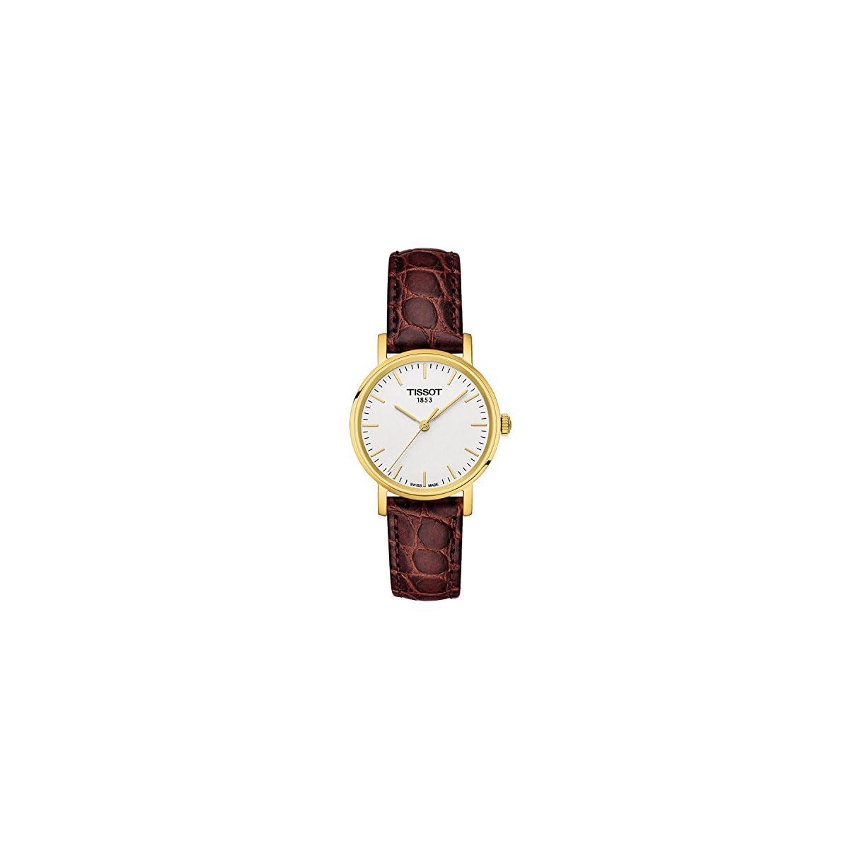 41NwkFw52ZL. SS1200  - Tissot Reloj Analógico para Mujer de Cuarzo con Correa en Cuero T1092103603100