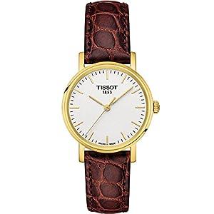 Tissot Reloj Analógico para Mujer de Cuarzo con Correa en Cuero T1092103603100