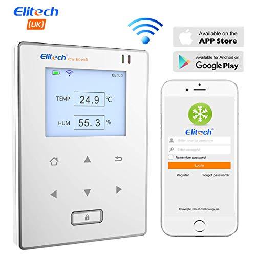 Elitech RCW-800 WIFI Registrador de Datos de Humedad y Temperatura, Termometro Higrómetro Sensor Inteligente...