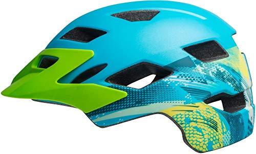 Bell Unisex Jugend SIDETRACK Youth Fahrradhelm, Gnarly mat bt Blue/bt Green, Unisize