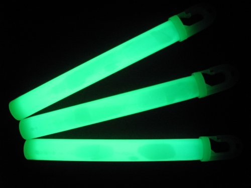 10 Green Military Emergency Light Sticks By Lumica. 12 Hour Glow Sticks (Garten Stick Light)